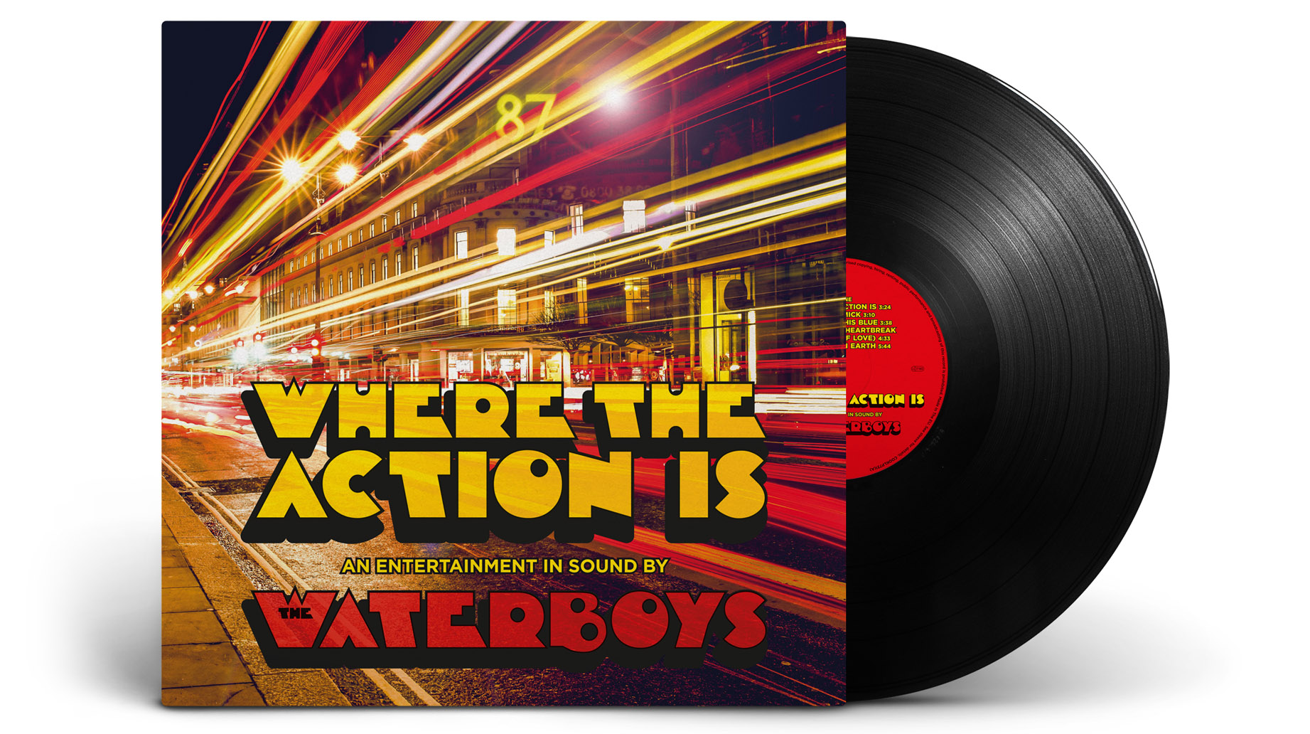 The Waterboys - Where The Action Is - Vinyl album cover